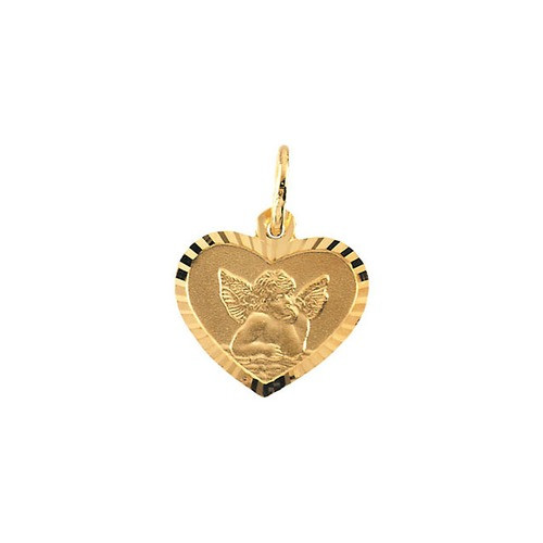 14kt Yellow Gold 9x12mm Angel Pendant