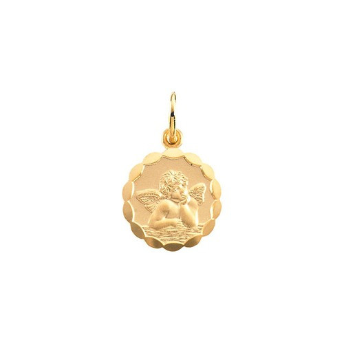 14kt Yellow Gold 12mm Angel Pendant 0.7 Grams