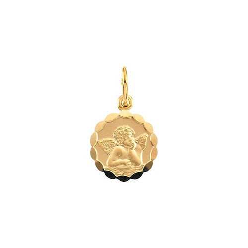 14kt Yellow Gold 10mm Angel Pendant