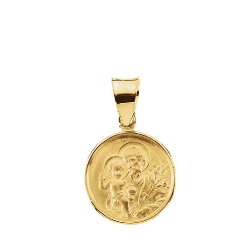 18kt Yellow Gold 13mm St. Joesph Medal