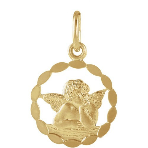 14kt Yellow Gold 12mm Angel Pendant 0.59 Grams
