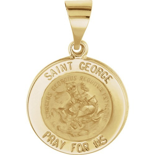 14kt Yellow Gold 15mm St. George Medal