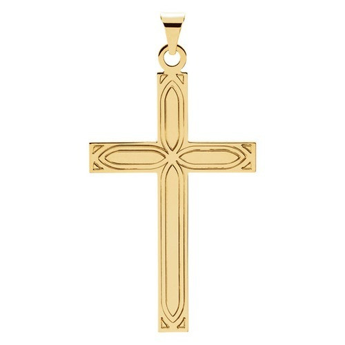 14kt Yellow Design Cross Pendant 2.46 Grams