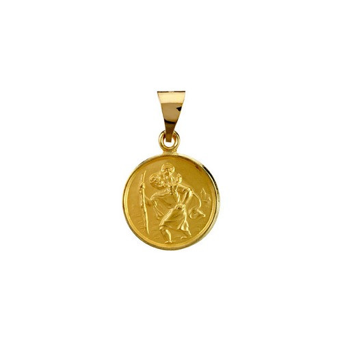 18kt Yellow 13mm St. Christopher Medal