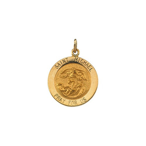 14kt Yellow 18mm St.Michael Medal