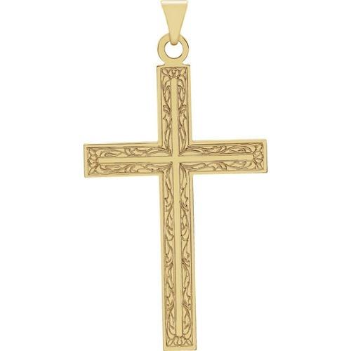 14kt Yellow Gold Design Cross Pendant 2.46 Grams