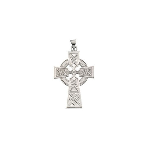 14kt White Celtic Cross with Packaging