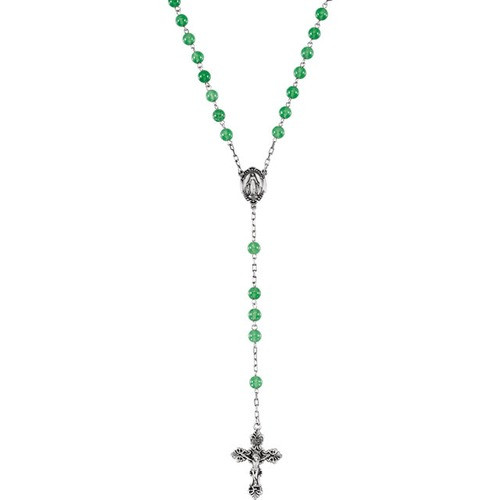 Sterling Silver Green Quartz Rosary