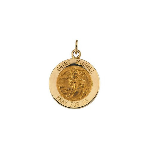 14kt Yellow 15mm St.Michael Medal