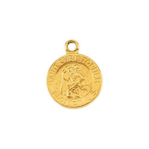 18kt Yellow 21.75mm St. Christopher Medal