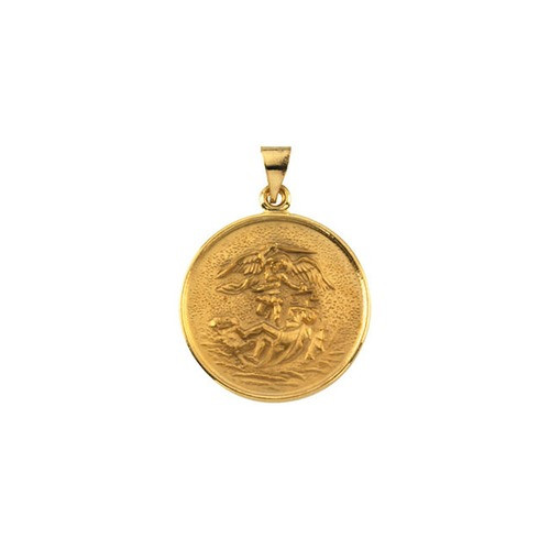 18kt Yellow 24.5mm St. Michael Medal