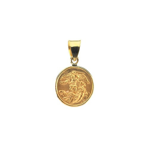 18kt Yellow 13mm St. Michael Medal