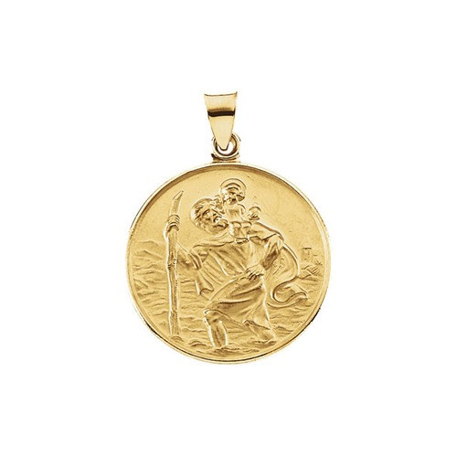 18kt Yellow 24.5mm St. Christopher Medal