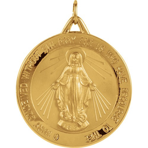 14kt Yellow 29mm Miraculous Medal