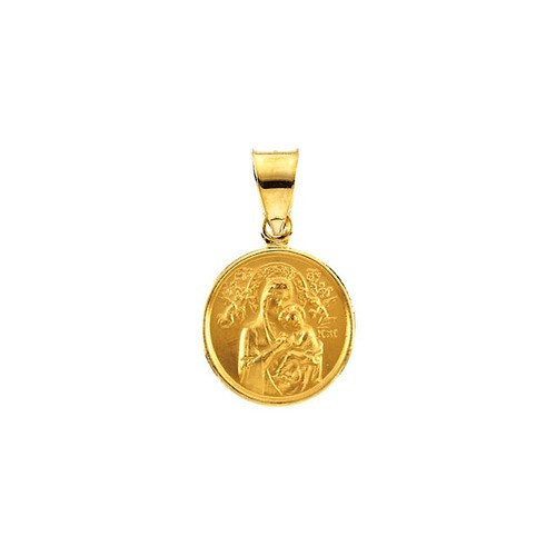 18kt Yellow 13mm Our Lady of Perpetual Help Medal