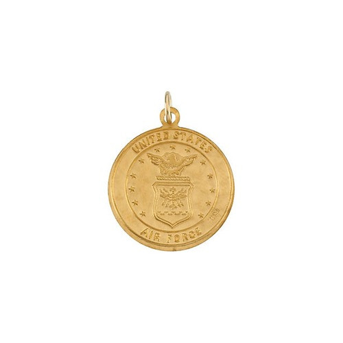 14kt Yellow Gold 18mm Round St. Christopher U.S. Air Force Medal