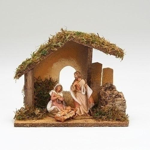 Fontanini Petite 3pc Nativity & Stable