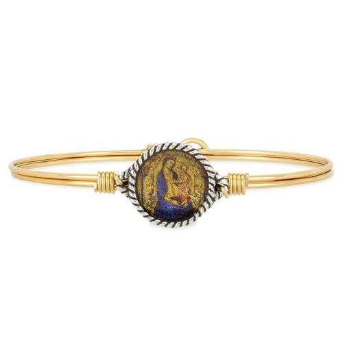 Madonna & Child Bangle - Brass Tone