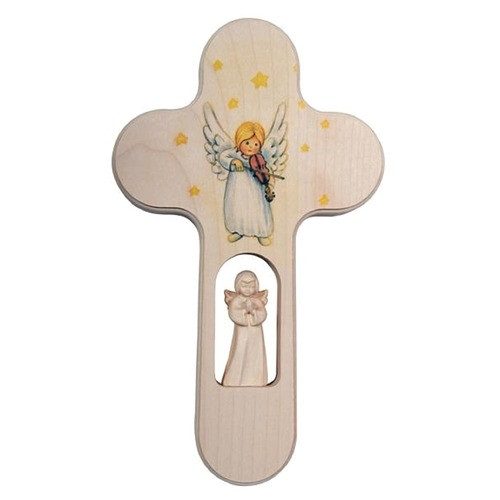 Children's Cross with Angel and Violin