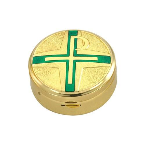 Green Chi-Rho Cross Pyx