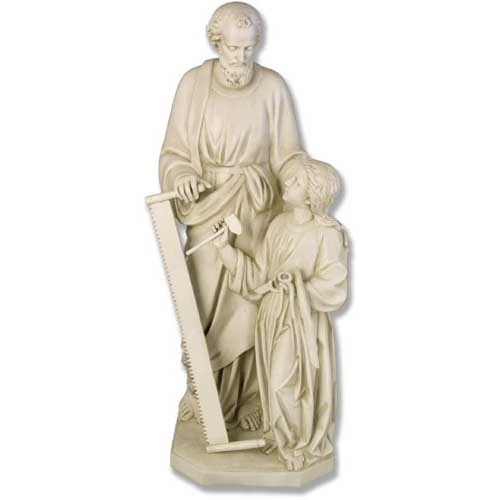 Joseph & Child with Tools Statue
