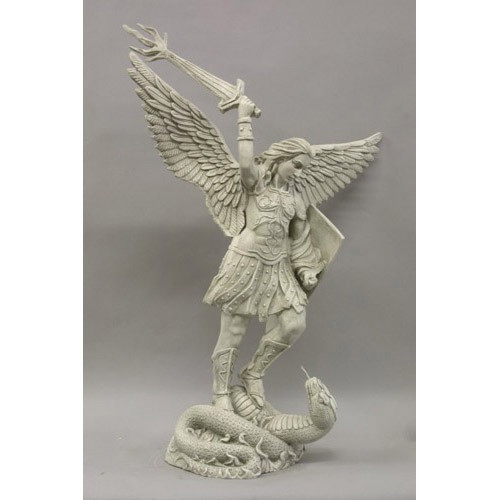 """St. Michael with Sword Fire 38"""""""