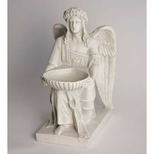 Angel With Dish Statue