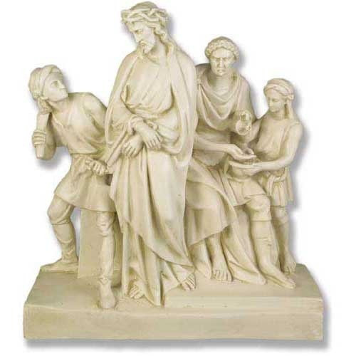 Stations of the Cross Statues, Antique Stone Finish