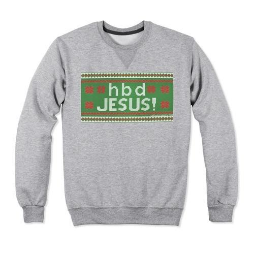 HBD Jesus Christmas Crewneck-Large
