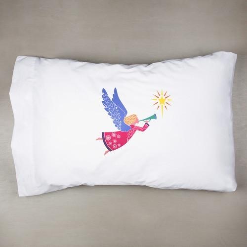 Angel Color Block Pillowcase