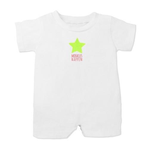 """Miracles Happen"" Christmas Star Infant Romper"