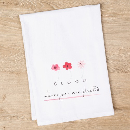 Bloom Flour Sack Dish Towel