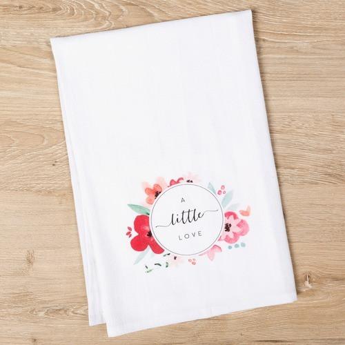 """A Little Love"" Flour Sack Dish Towel"
