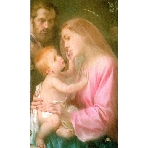 Holy Family Personalized Prayer Card (Priced Per Card)