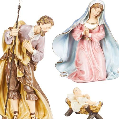 "Holy Family 3 Piece Nativity Set-13.75"""