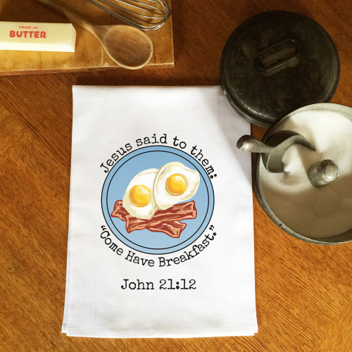 Come Have Breakfast Dish Towel