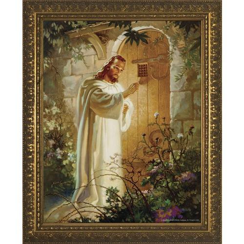 Christ at Heart's Door w/ Gold Frame