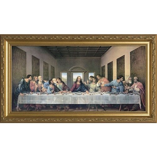 The Last Supper Redone w/ Gold Frame
