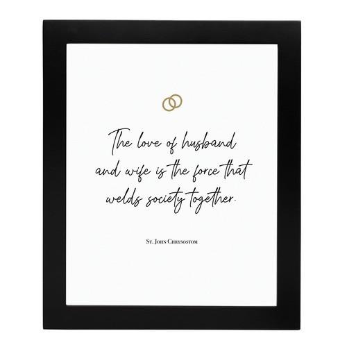 """Love of a Husband and Wife"" St. John Chrysostom Print"