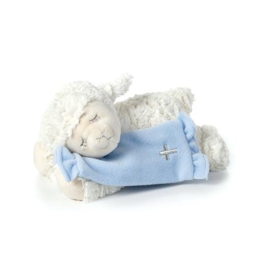 Blue Now I Lay Me Down to Sleep Lamb