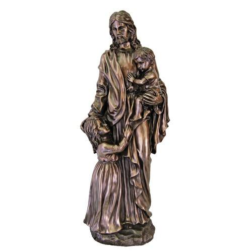 Christ With Children Statue 35''