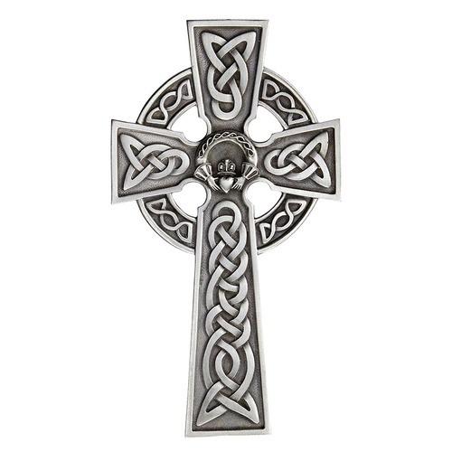 """Claddagh Celtic Wall Cross-8"""""""