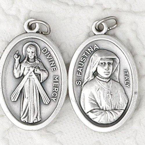 Divine Mercy & St. Faustina Medal - 25 Pack