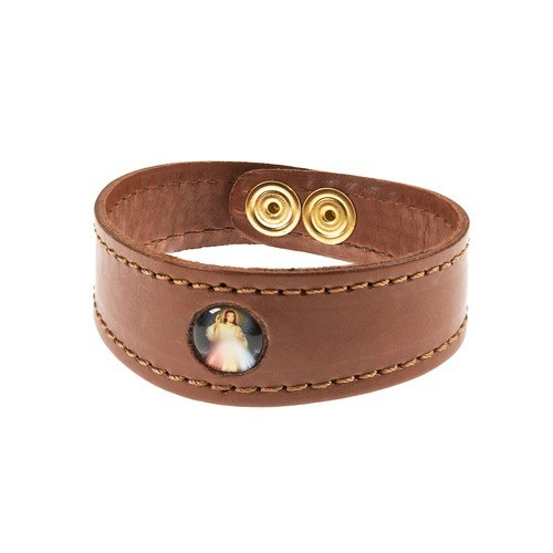 Divine Mercy Leather Bracelet