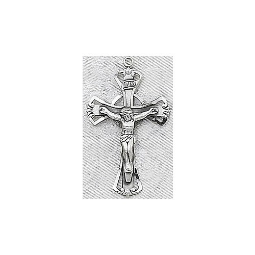 """Sterling Silver Crucifix on 18"""" Chain"""
