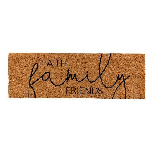 Faith, Family, Friends Doormat
