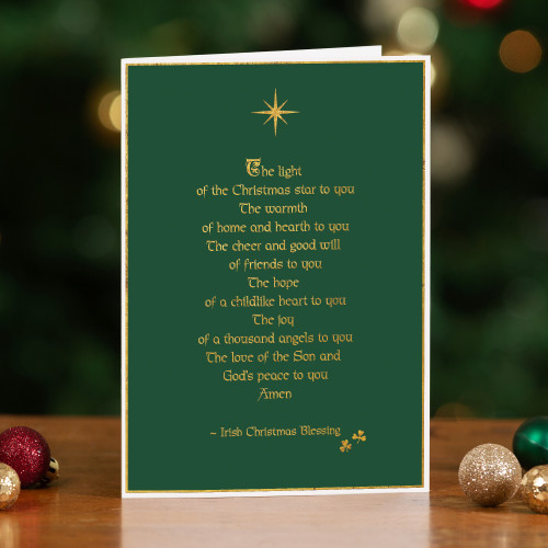 Irish Blessing for Christmas Cards - Set of 20
