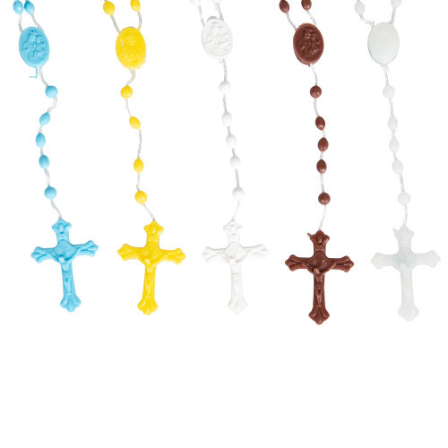 Color Mix Plastic Rosaries - Package of 25