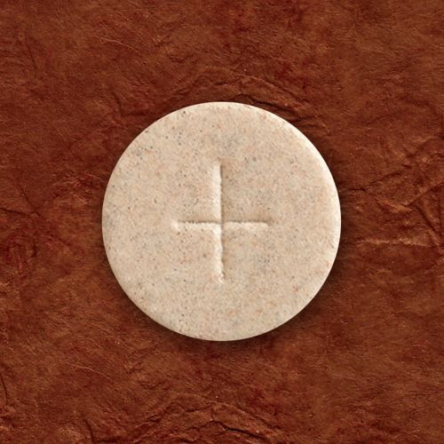 """1-3/8"""" Whole Wheat Communion Hosts with Cross, Box of 1000"""