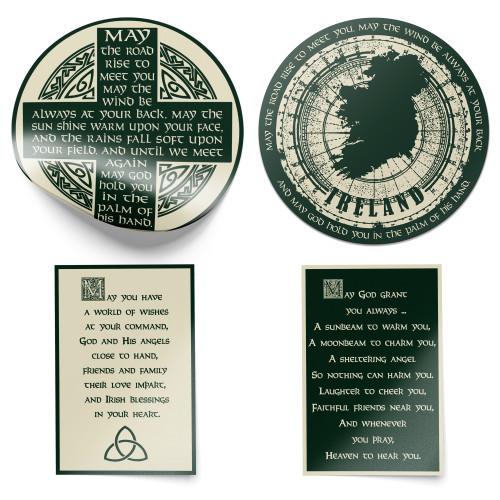 Irish Blessings Stickers - Pack of 4